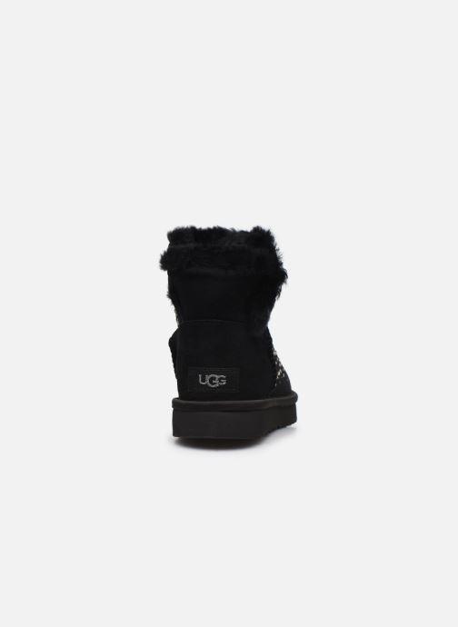 Bottines et boots UGG Classic Galaxy Bling Mini Noir vue droite