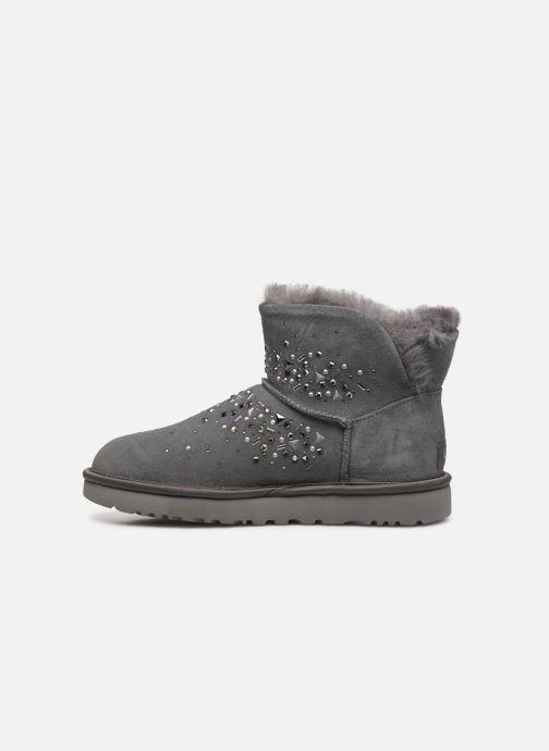 Stiefeletten & Boots UGG Classic Galaxy Bling Mini grau ansicht von vorne