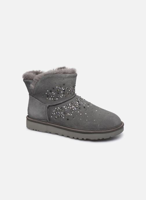 Bottines et boots UGG Classic Galaxy Bling Mini Gris vue détail/paire