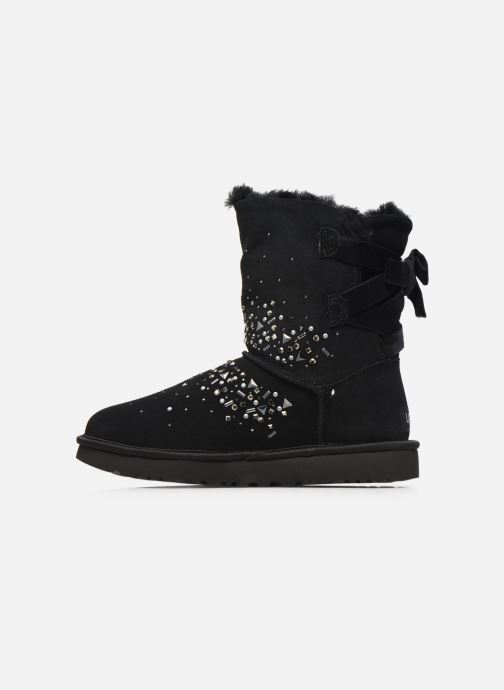 Bottines et boots UGG Classic Galaxy Bling Short Noir vue face