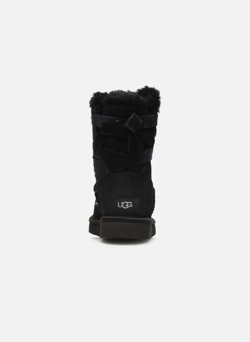 Bottines et boots UGG Classic Galaxy Bling Short Noir vue droite