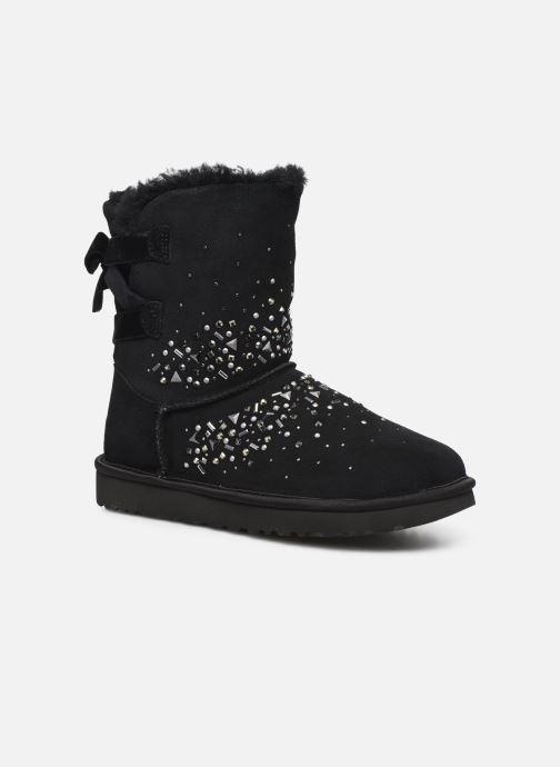 Bottines et boots UGG Classic Galaxy Bling Short Noir vue détail/paire