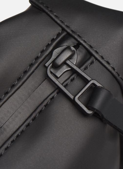 Kleine lederwaren Rains  Bum Bag Mini Zwart links