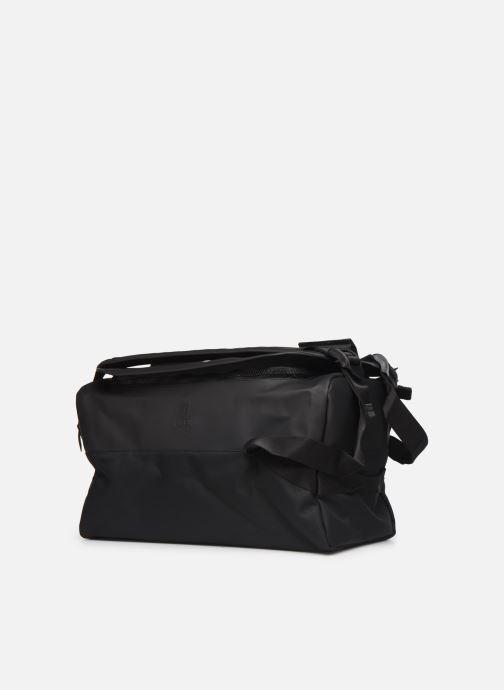 Bagages Rains  Duffel Backpack Noir vue portées chaussures