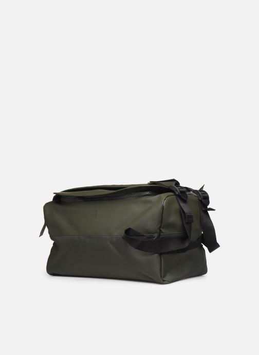 Equipaje  Rains  Duffel Backpack Verde vista del modelo