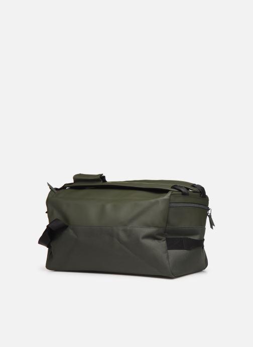 Bolsas de deporte Rains  Duffel Backpack Verde vista lateral derecha