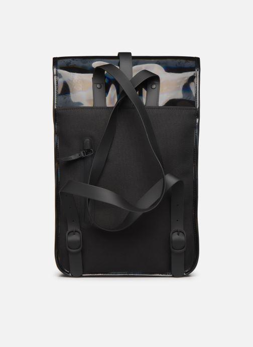Mochilas Rains  Holographic Backpack Mini Negro vista de frente