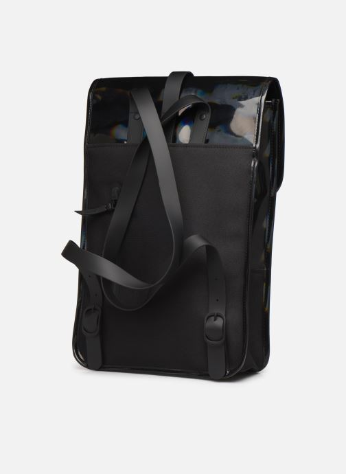 Mochilas Rains  Holographic Backpack Mini Negro vista lateral derecha