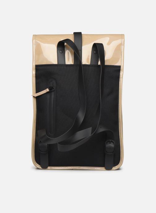 Mochilas Rains  Holographic Backpack Mini Beige vista de frente