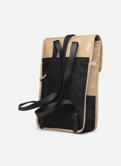 Mochilas Rains  Holographic Backpack Mini Beige vista lateral derecha