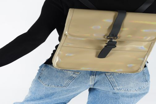 Rugzakken Rains  Holographic Backpack Mini Beige onder