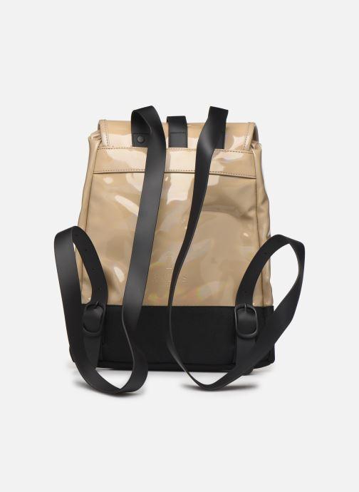 Mochilas Rains  Holographic Drawstring Backpack Beige vista de frente