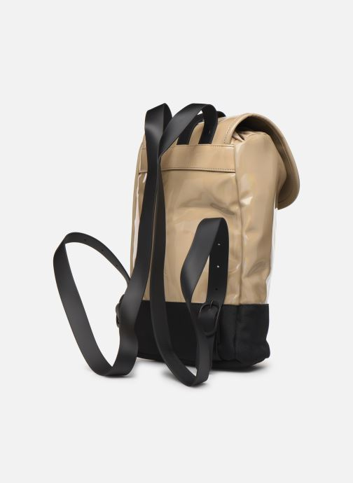 Rucksacks Rains  Holographic Drawstring Backpack Beige view from the right