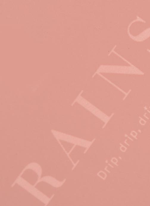 Reisegepäck Rains  Wash Bag Small rosa ansicht von links