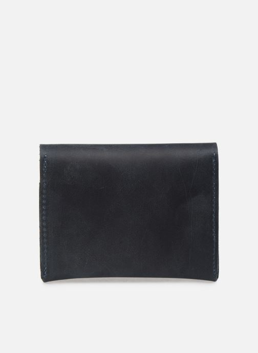 Kleine lederwaren Faguo Wallet Snap Leather Blauw voorkant