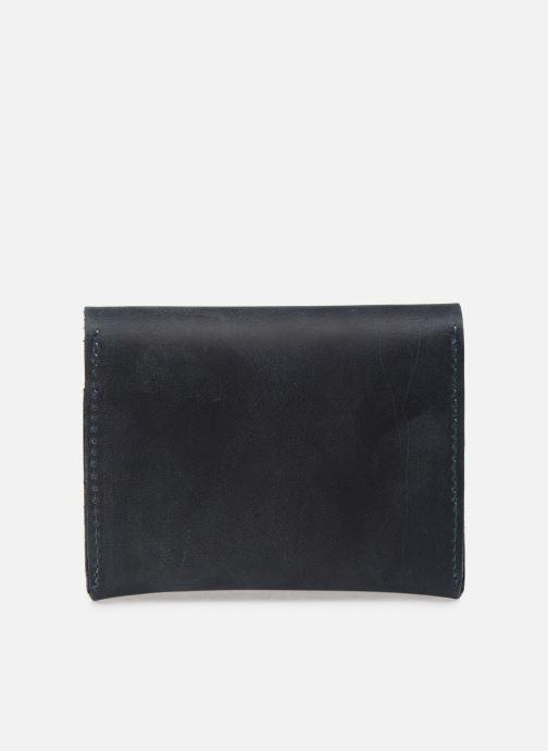 Marroquinería pequeña Faguo Wallet Snap Leather Azul vista de frente