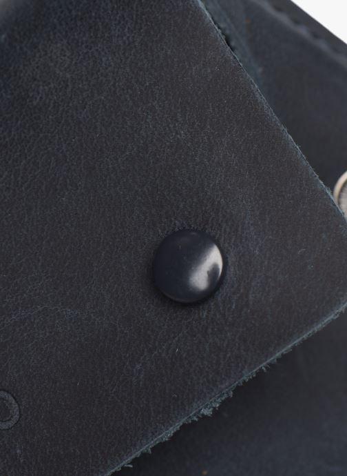 Petite Maroquinerie Faguo Wallet Snap Leather Bleu vue gauche