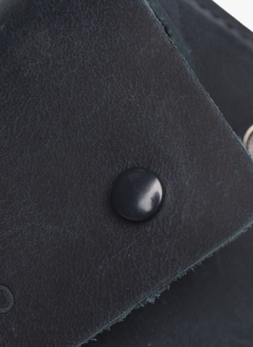 Kleine lederwaren Faguo Wallet Snap Leather Blauw links