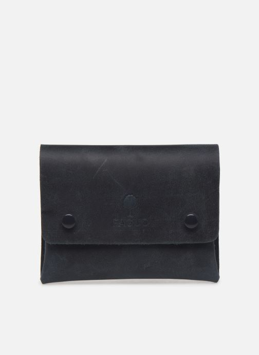 Marroquinería pequeña Faguo Wallet Snap Leather Azul vista de detalle / par