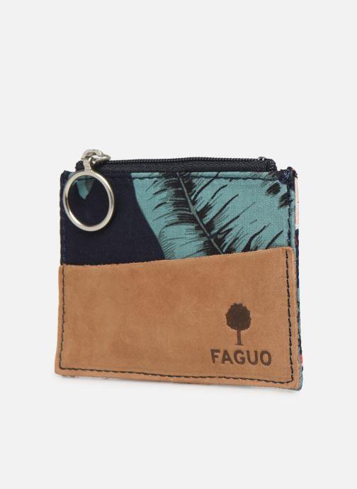 Petite Maroquinerie Faguo Wallet Polyester Multicolore vue portées chaussures