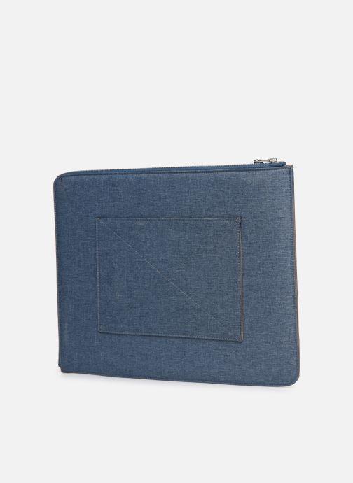 Marroquinería pequeña Faguo Sleeve Syn Wov Azul vista lateral derecha
