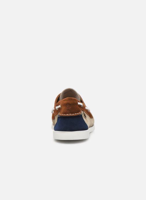 Zapatos con cordones Faguo Boat Shoes Larch Suede Beige vista lateral derecha