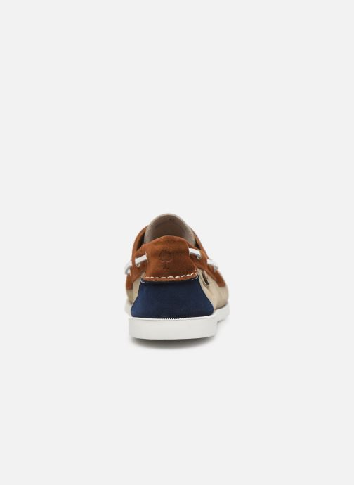 Lace-up shoes Faguo Boat Shoes Larch Suede Beige view from the right