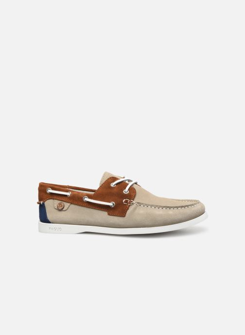 Zapatos con cordones Faguo Boat Shoes Larch Suede Beige vistra trasera