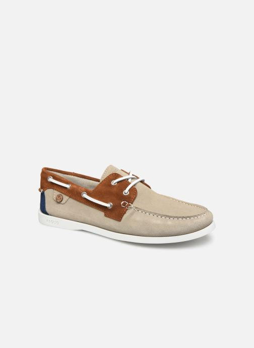 Lace-up shoes Faguo Boat Shoes Larch Suede Beige detailed view/ Pair view