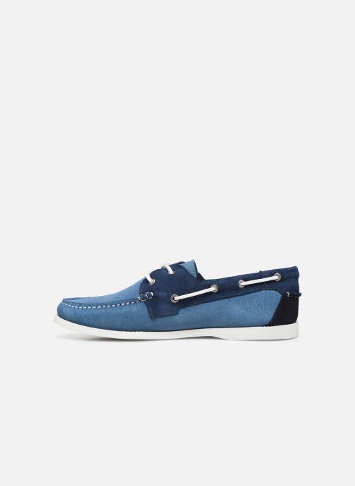 Zapatos con cordones Faguo Boat Shoes Larch Suede Azul vista de frente