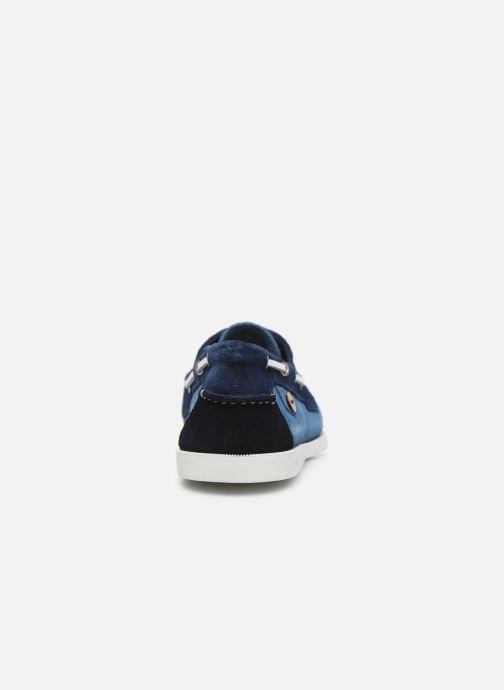 Zapatos con cordones Faguo Boat Shoes Larch Suede Azul vista lateral derecha