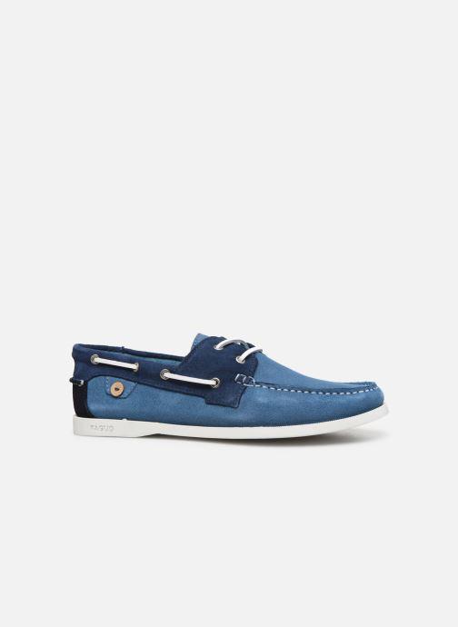 Zapatos con cordones Faguo Boat Shoes Larch Suede Azul vistra trasera