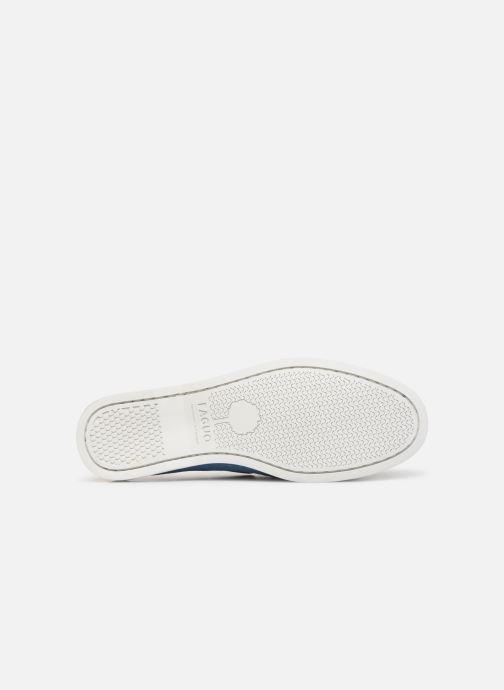 Zapatos con cordones Faguo Boat Shoes Larch Suede Azul vista de arriba