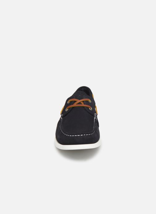 Lace-up shoes Faguo Boat Shoes Larch Suede Blue model view