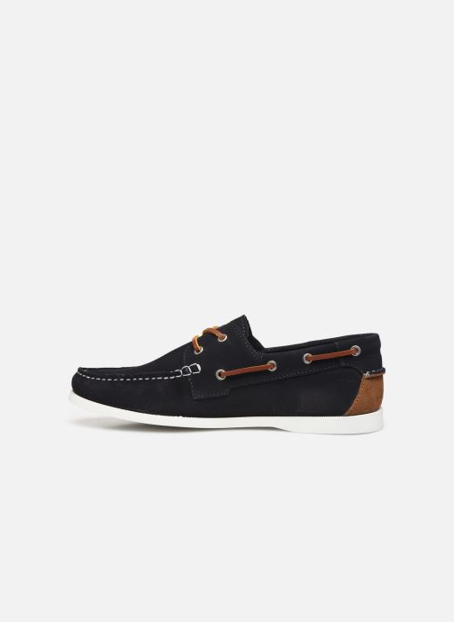 Lace-up shoes Faguo Boat Shoes Larch Suede Blue front view