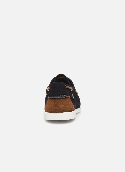Schnürschuhe Faguo Boat Shoes Larch Suede blau ansicht von rechts