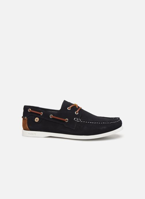 Lace-up shoes Faguo Boat Shoes Larch Suede Blue back view