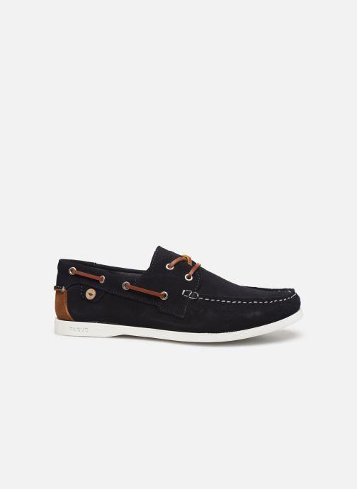 Schnürschuhe Faguo Boat Shoes Larch Suede blau ansicht von hinten