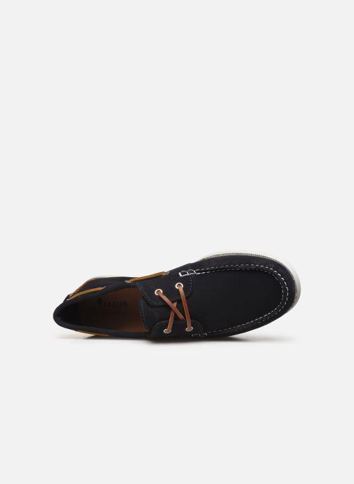 Schnürschuhe Faguo Boat Shoes Larch Suede blau ansicht von links