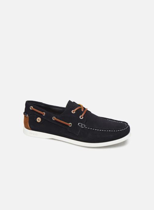 Schnürschuhe Faguo Boat Shoes Larch Suede blau detaillierte ansicht/modell