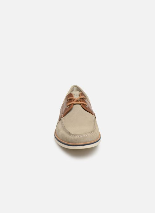 Lace-up shoes Faguo Boat Shoes Larch B Suede Beige model view
