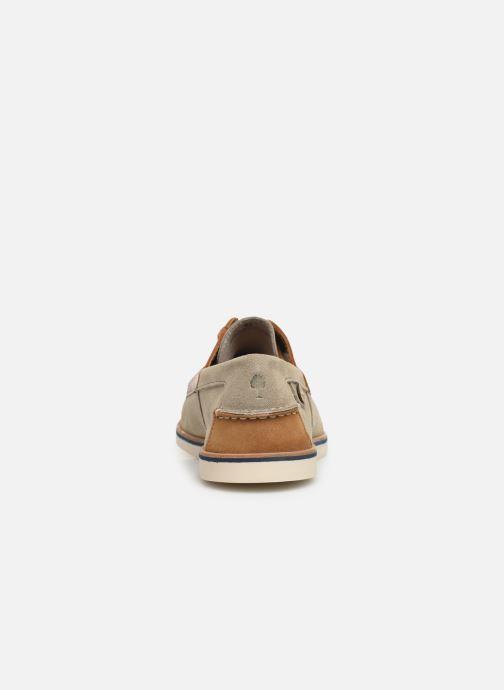Zapatos con cordones Faguo Boat Shoes Larch B Suede Beige vista lateral derecha