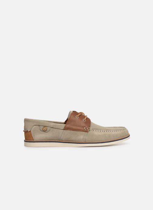 Zapatos con cordones Faguo Boat Shoes Larch B Suede Beige vistra trasera