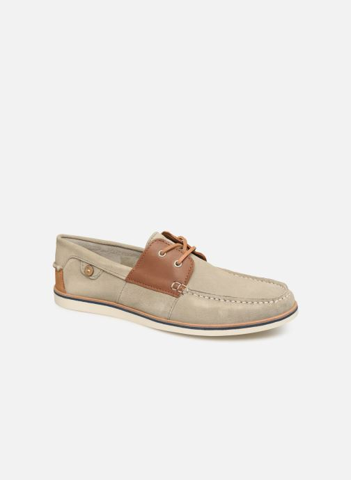 Chaussures à lacets Faguo Boat Shoes Larch B Suede Beige vue détail/paire