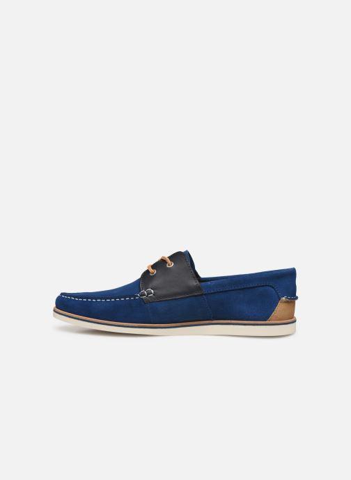 Chaussures à lacets Faguo Boat Shoes Larch B Suede Bleu vue face