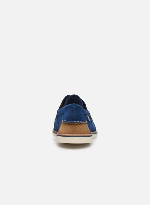 Lace-up shoes Faguo Boat Shoes Larch B Suede Blue view from the right