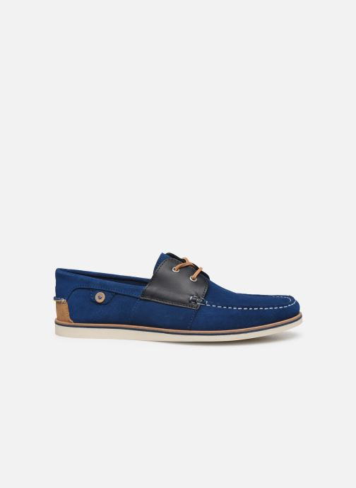 Lace-up shoes Faguo Boat Shoes Larch B Suede Blue back view