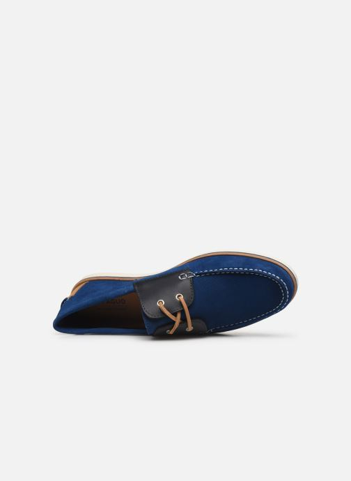 Zapatos con cordones Faguo Boat Shoes Larch B Suede Azul vista lateral izquierda