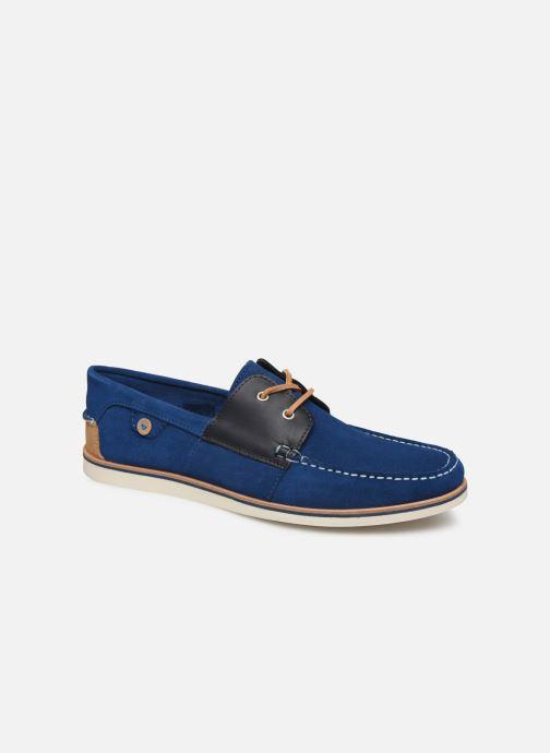Zapatos con cordones Faguo Boat Shoes Larch B Suede Azul vista de detalle / par