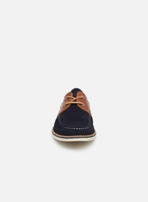Lace-up shoes Faguo Boat Shoes Larch B Suede Blue model view
